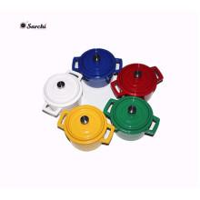 Pot en fonte émaillée Mini Size Casserole Pot With Lid