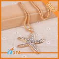 Lover Sea Star Shape With Rhinestone Pendant Necklaces