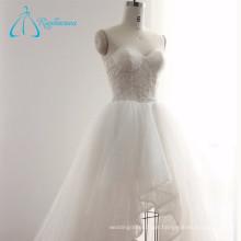Fotos reais Illusion Hot Sale Wedding Dress 2016 Bridal Gowns