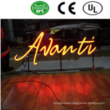 High Quality LED Front Lit Acrylic Stainless Steel Sign Letters