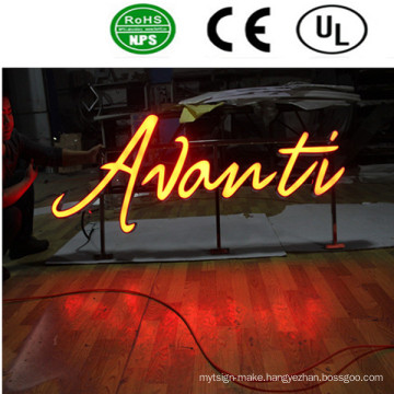 Outdoor LED Front Lit Acrylic Channel Letter Signs