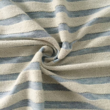 Stripe Hoodie French Terry Strickgewebe