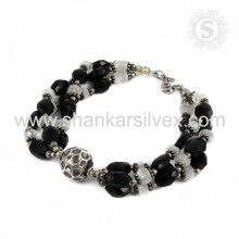 Stunning Indian Silver Jewelry Multi Stone Bracelet Wholesale 925 Silver Jewelry Bracelet