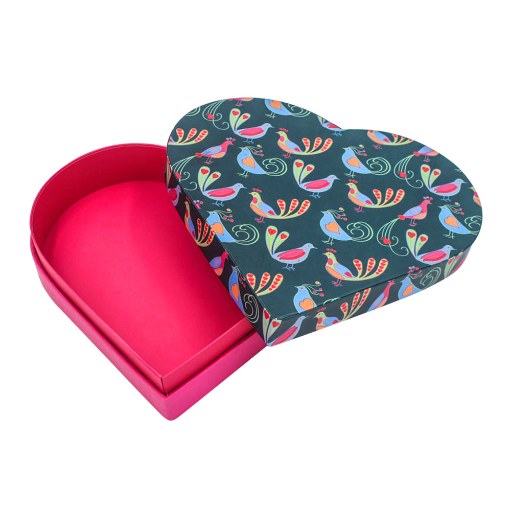 Cosmetic Cardboard Heart Shape Gift Box