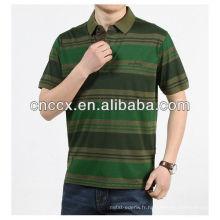 13PT1007 hommes armée vert mode nouveau design t-shirt polo