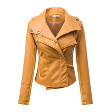 2015 New Arrival Zippered Faux Leather Moto Jacket