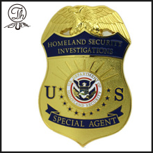 Gold US Homeland Security Abzeichen Metall
