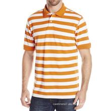 Camisas al por mayor de los hombres de Polo de la raya del algodón de los polos ocasionales