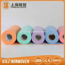 30% Viskose + 70% Polyester Kreuzgesponnener Spunlace-Vliesstoff für Einwegtücher