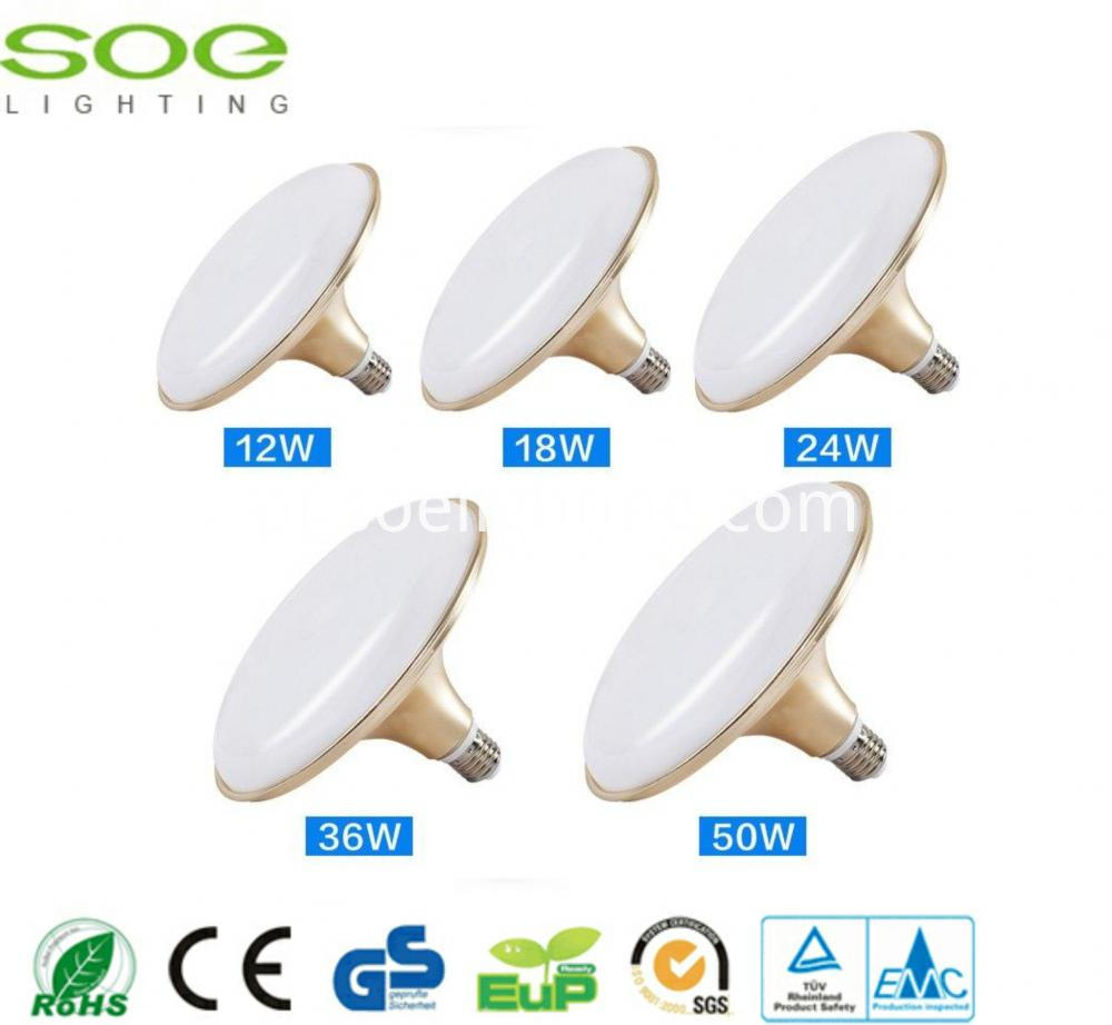 12W Golden UFO LED light bulbs