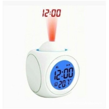 Multifuncional reloj colorido LED. Control de voz Alarma Luz de noche