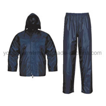 Polyester pour adulte Polyester / PVC Imperméable Rain Suit Rainsuit Raincoat Workwear Rainwear