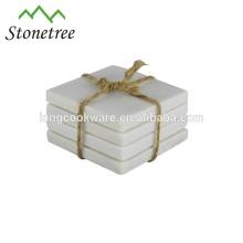 Comedor de mesa de mármol posavasos