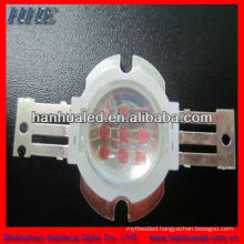 10w red round high power led with a lens