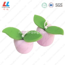 high quality saucy mesh body exfoliator sponge ball