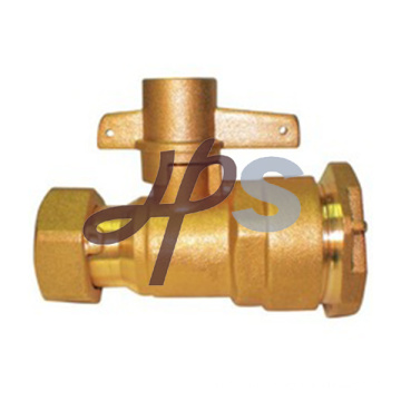 high quantity brass lockable ball valve for water meter and PE pipe connection
