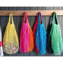 Hand stricken häkeln Net Einkaufstasche, Baumwoll-Mesh-Tasche