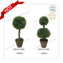 H40cm Plastic Outdoor Extension Cord Green Artificial Plant Flower