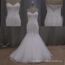 Spitze Braut Meerjungfrau Vestidos Luxus Perlen Weddign Kleider