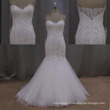 Dentelle robes de mariée sirène robes de mariée de luxe Weddign