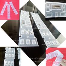 Couverture transparente de clavier en caoutchouc transparent de silicone