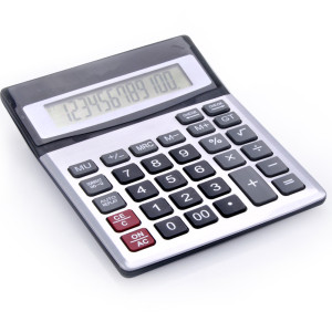 12-digits dual power check calculator for office