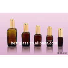 10/25/35/50/100ml square brown essential oil glass bottle with aluminum dropper