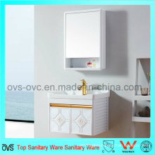 Fancy Bathroom Aluminum Vanity Cabinets with Ceramic Basin