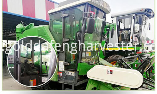 full feed crawler type rice harvester--cab 500