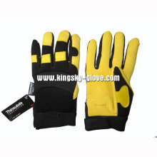 Deer Skin Leather Mechanic Work Glove