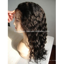 fashionable deep wave 100% human hair lace wigs
