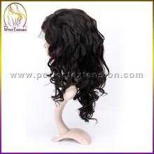 2015 precio especial virgen brasileña peluca llena del cordón pelo largo hombre