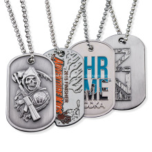 Wholesale Metal Necklace Sublimation Army Dog Tag