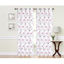 Tela de cortina bordada poliéster puro con estampado de flores