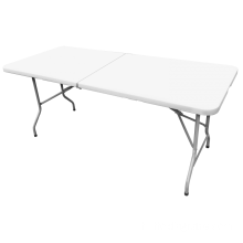 Table pliante semi-rectangulaire de 183 cm