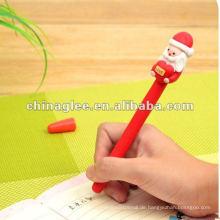 Großhandel Weihnachts-Kugelschreiber mit Santa Claus, heißer Verkauf Stifte.