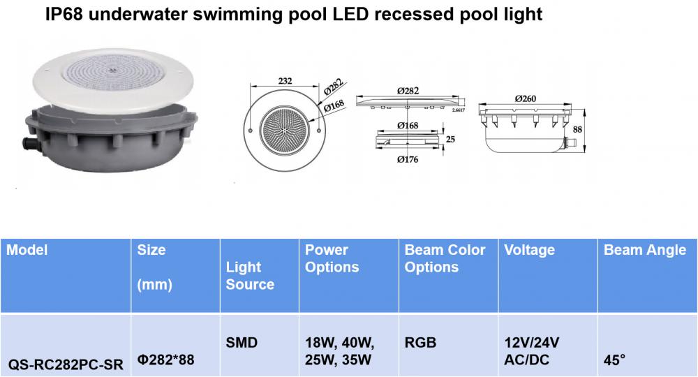 Ressed Waterpoof Pool Light 3