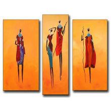 Peinture à l'huile célèbre de femmes indiennes pour décoration intérieure