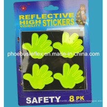 10cm X 10cm Hello Hand Reflective Sticker En13356