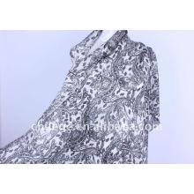 wool/silk printed scarf