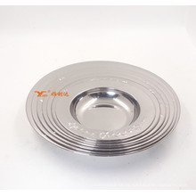 Stainless Steel Metal Plate Dishes with Silver Golden Color/Modern Dinner Plate/Serving Tray Food