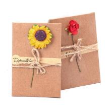 Ручной Работы Открытки, Засушенные Цветы Поблагодарить Вас Карты, День Рождения Пригласительный Билет