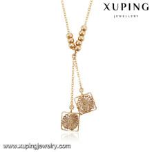 43143 Xuping nuevo diseño de oro plateado collar de cadena larga de lujo para las mujeres