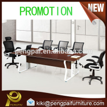 Space save small brown meeting table with chairs