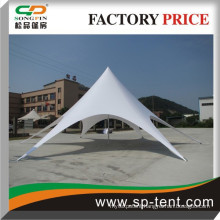 Outdoor event star marquee diameter 14m in UV-protected PVC top Weatherproof sun canopy