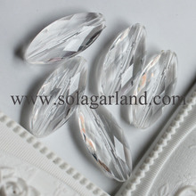 Acrylic Crystal Faceted Bicone Beads Charms