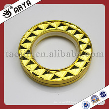 gold curtain rings and eyelets