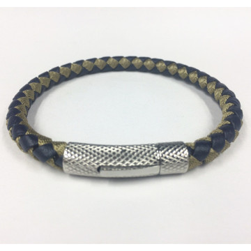 Mens Braided da Clasp Magnetic Bangle Bracelet
