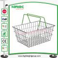 Tienda / supermercado Cesta de compras de alambre de metal