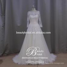 Lebanon designer illusion populaire manches longues robe de mariage voir à travers une robe de mariage en ligne